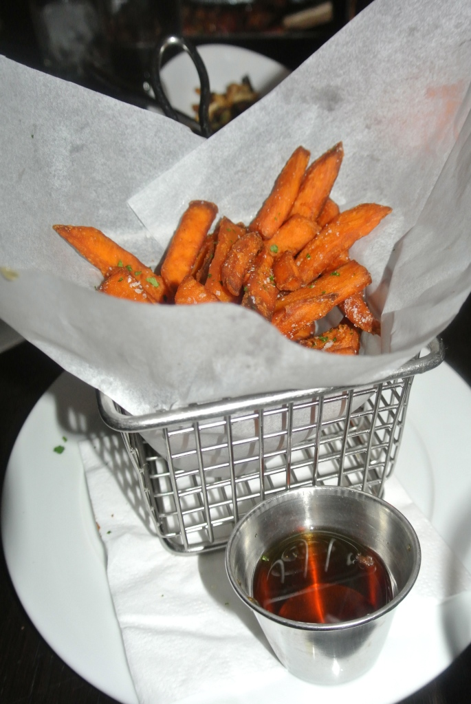 One of our many sides we ordered - spiced sweet potato fries and a special maple syrup dipping sauce - such a fantastic combination and highly addictive, I could practically drink it!