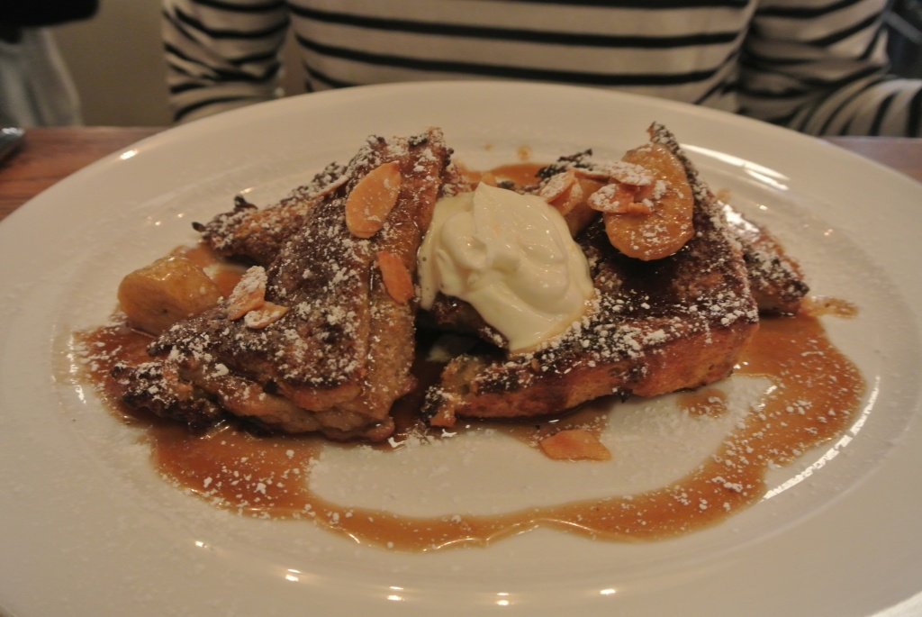 Almond French Toast Bananas Foster!