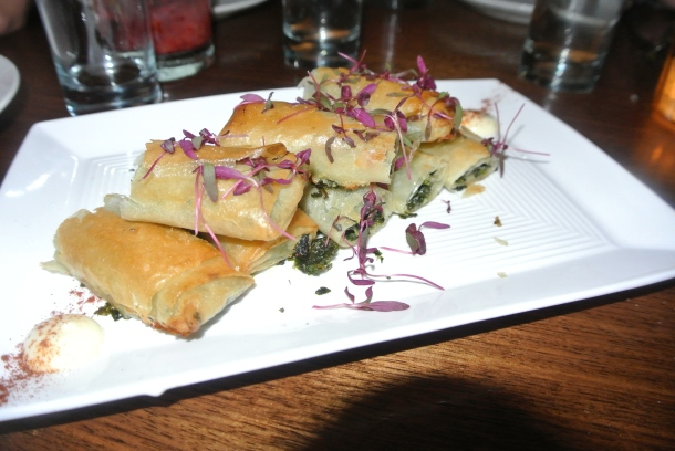 Spanikopita - spinach and feta filled phyllo