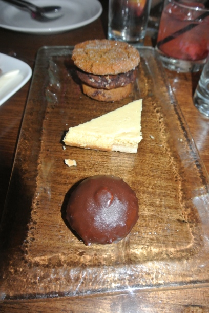Ice Cream Sandwich, Lemon square and another chocolate dessert