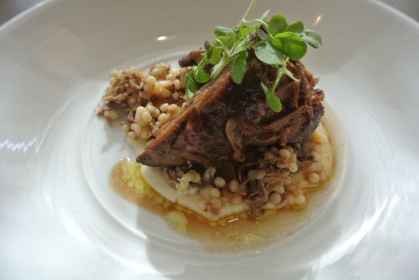 My main course - braised lamb with parsnip puree