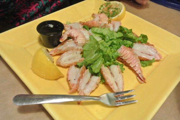 Steamed gulf shrimp