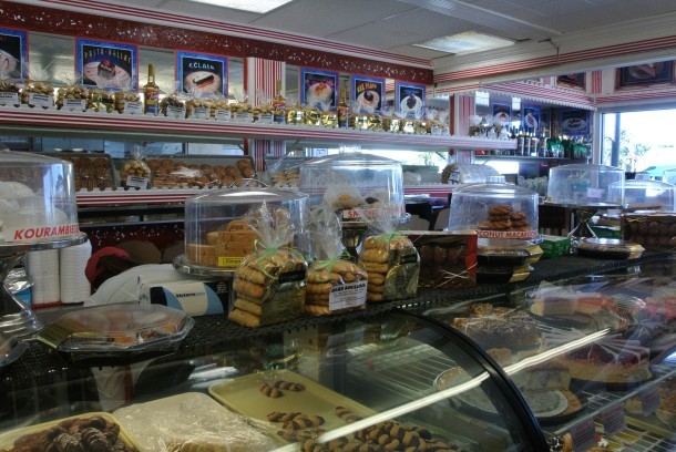 Inside Hellas Bakery.