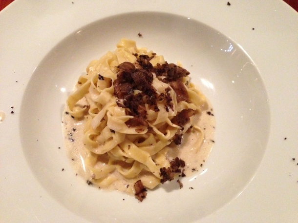 Special of the day - Fettucine with truffle.