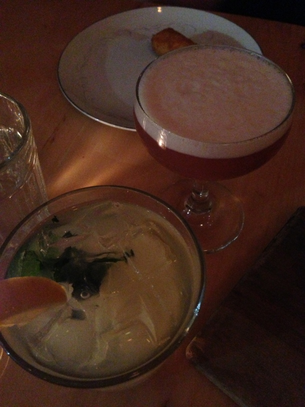 What's a dinner with some unique libations - French Martini and Spiked Lemonade.