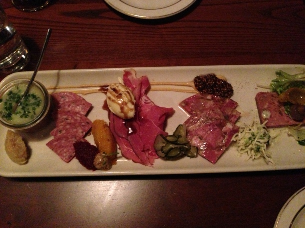 Sampling of house cured meats!