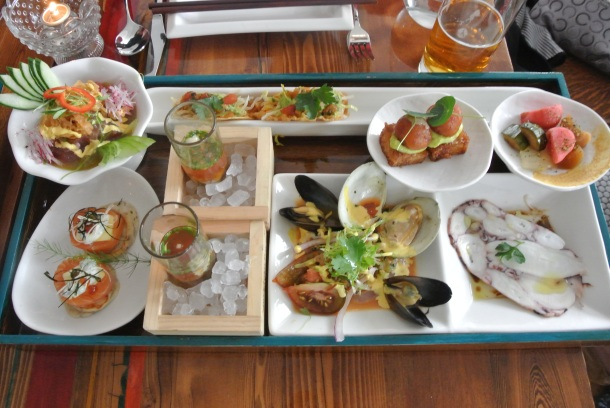 Bent-O: seven course bento box full of seafood delights!