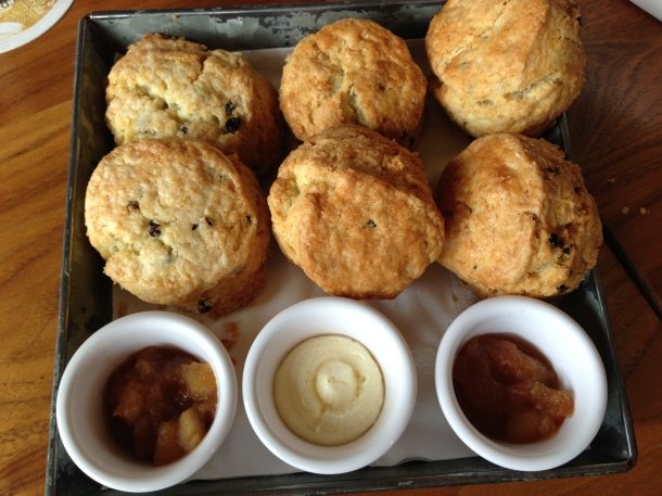 Baked inhouse - fresh basket of scones!