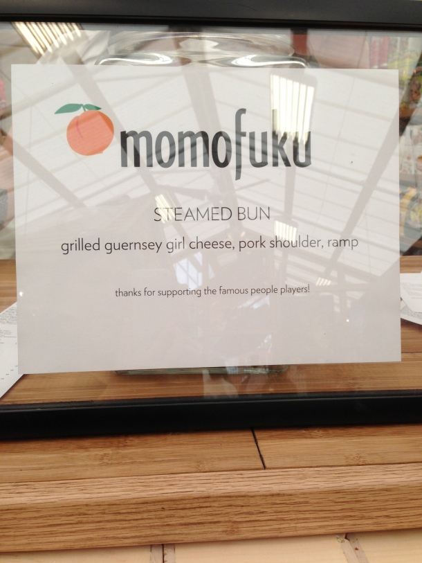 The chef today was Momofuku's Sam Gelman and his steamed bun.