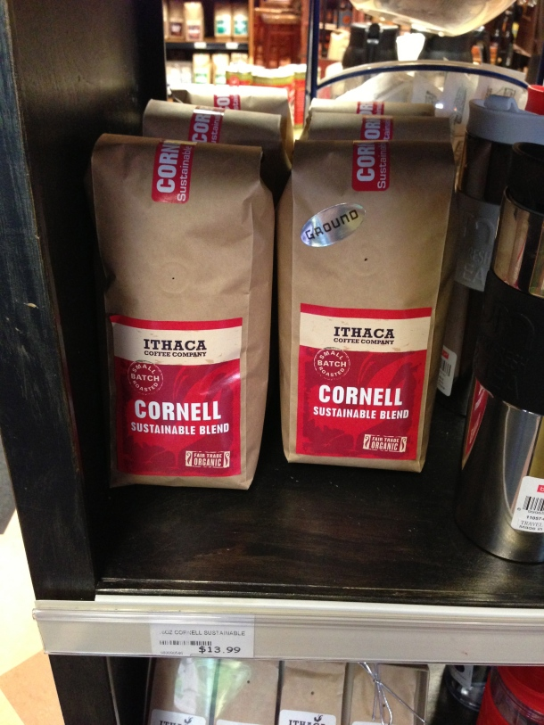 Coffee blend named after a University - Ithica Coffee Company's Cornell Sustainable Blend.