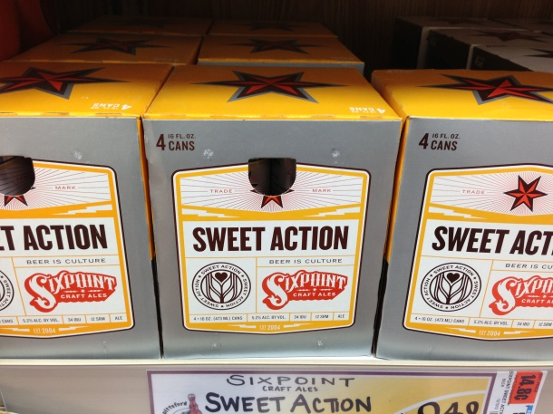 Sixpoint sweet action craft ale.