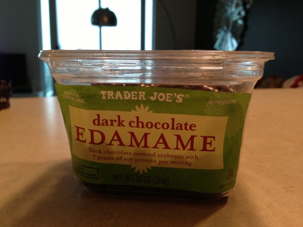 How can you go wrong? Dark chocolate and edamame!