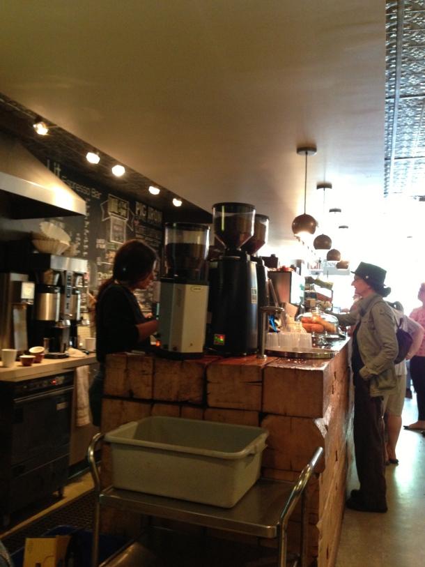 Inside Lit espresso bar.