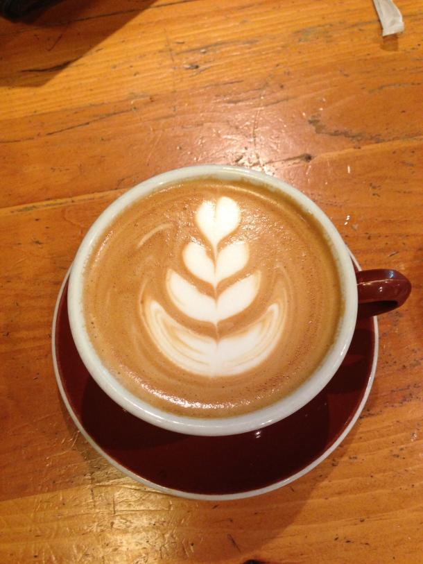 Beautiful coffee art.