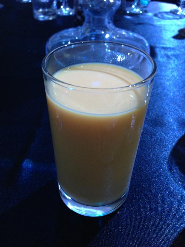 An aperitif - mango lassi.