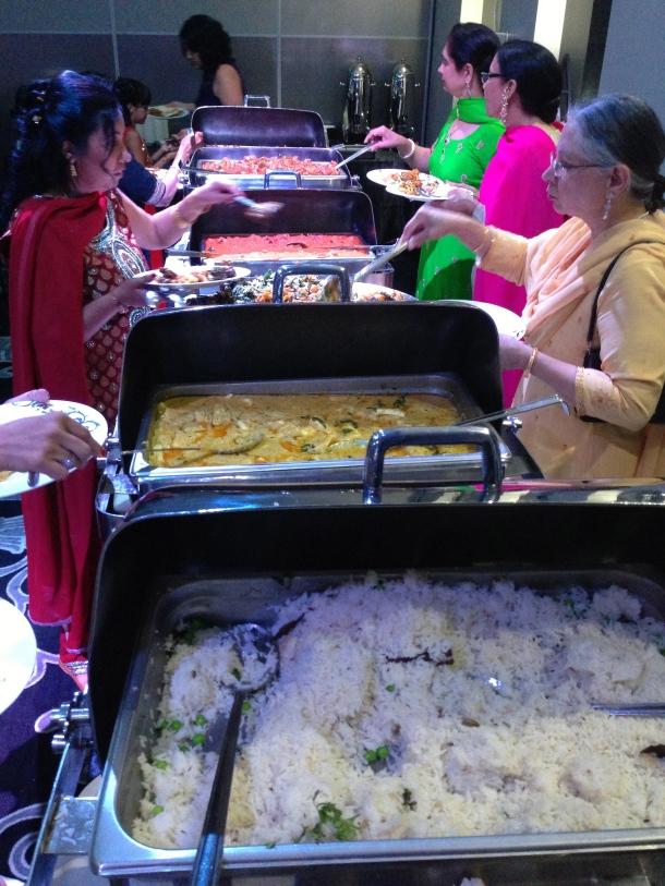 The main buffet line.