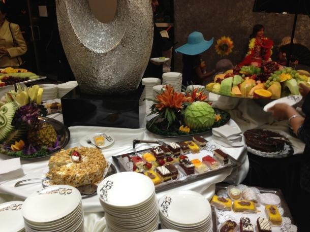 The dessert buffet!