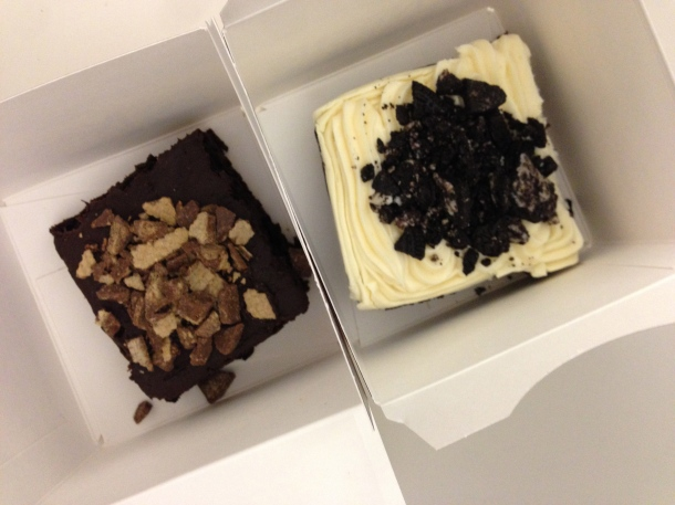 Birthday brownies courtesy of my colleagues - from Nestle Toll House Bakery.