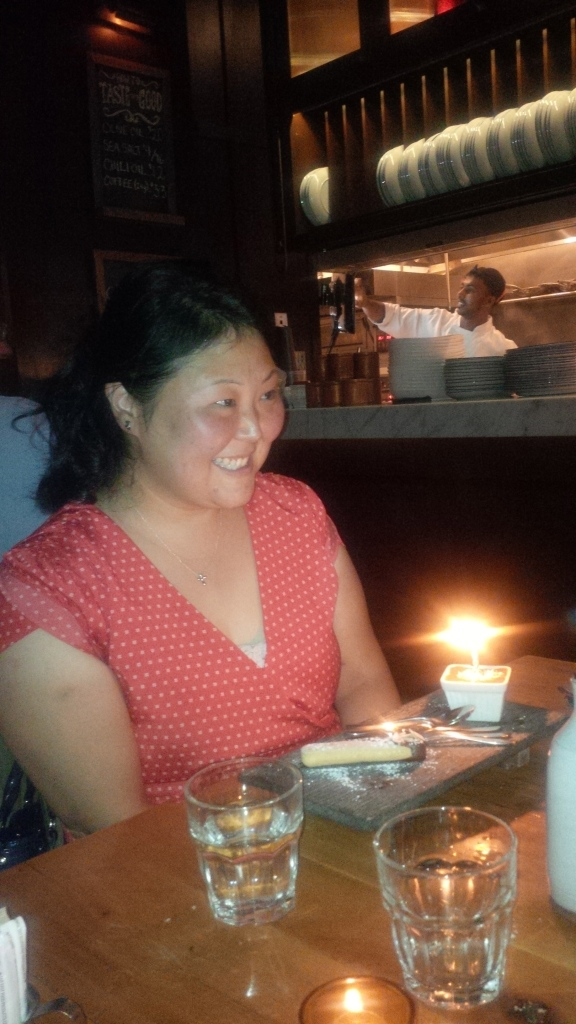 My birthday budino dessert at Gusto 101.