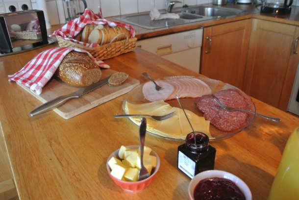 Assorted cold cuts, cheeses, whole grain bread and jams!