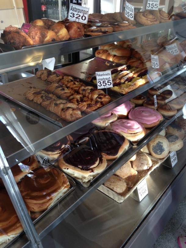 Selection of pastries.