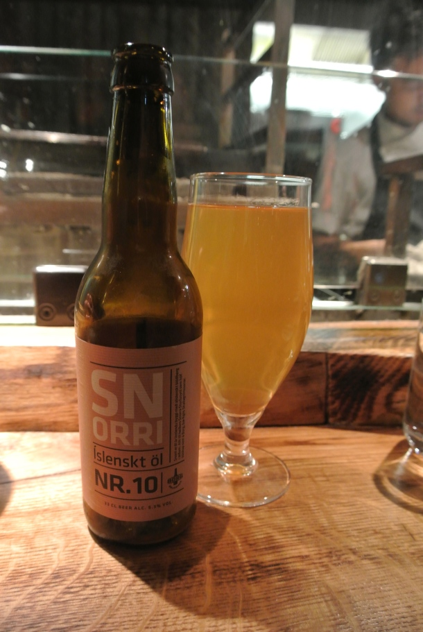 Snorri beer - locally crafted beer.