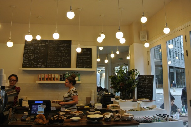 Damson cafe's beautiful interior.