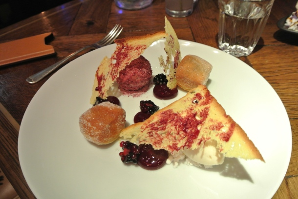 PBJ Cherryade Parfait - peanut ice cream and cherry jam doughnuts.
