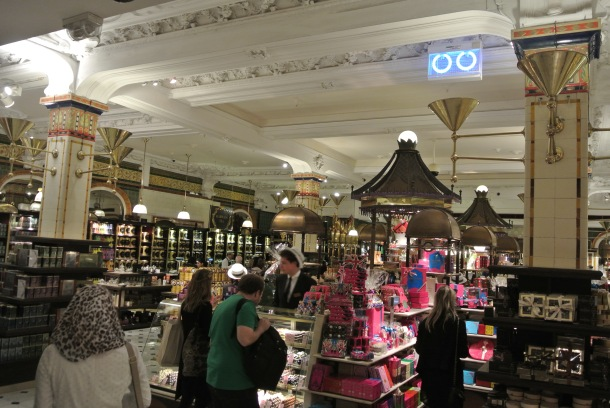 Inside the tea and confectionary hall.