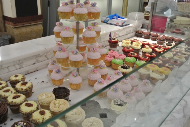 Cupcake shop in Harrods.