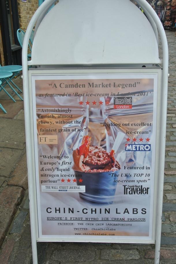 Famous Chin Chin Labs at Camden Market.