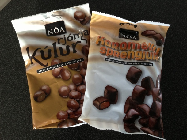 Chocolate that is made in Reykjavik.  They are chocolate covered caramels in different flavours.
