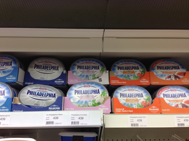 Portable mini Philadelphia cream cheese in some cool flavours like Sweet Chilli or Paprika.