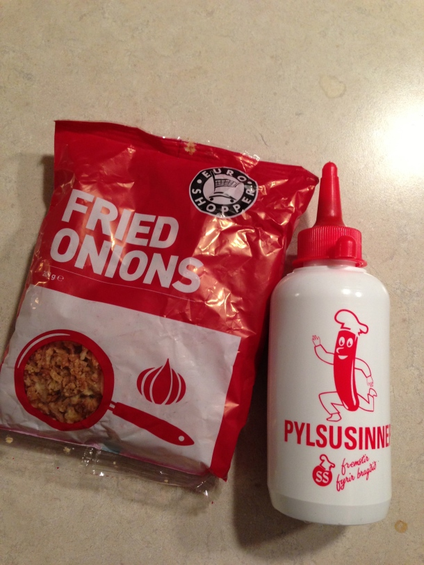 My souvenirs from Iceland - fried onions and mustard!