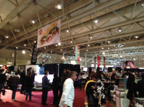 Inside the Gourmet Food & Wine Expo at the Toronto Metro Convention Centre.