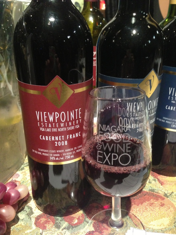 Ontario winery - Viewpointe's Cabernet Franc.