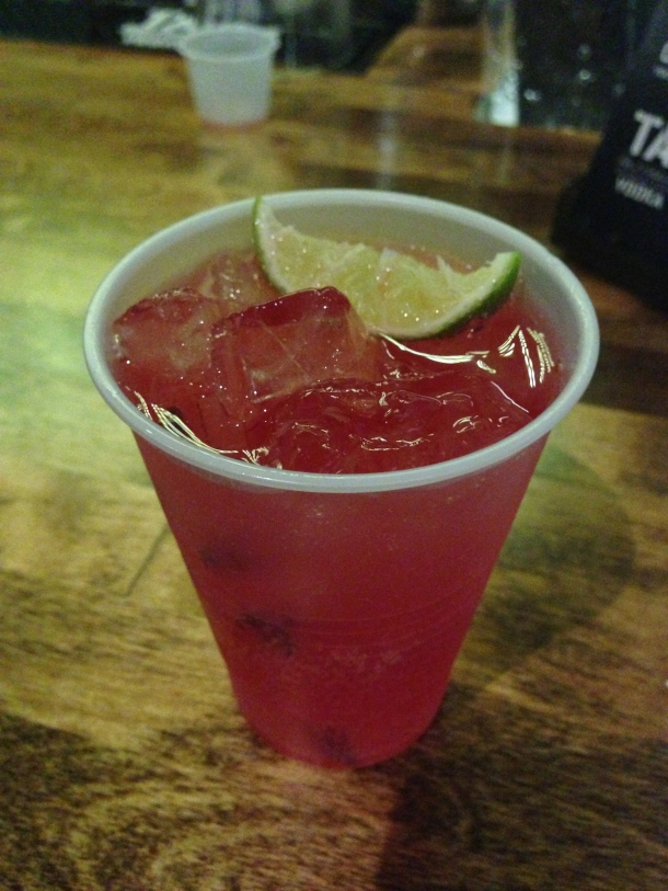 Tag Vodka's Tag Royale - red berries with a splash of vodka, soda and cranberry juice!