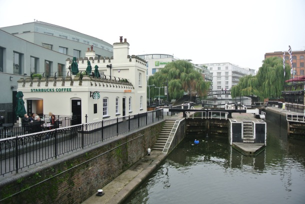 The view of the Camden locks.