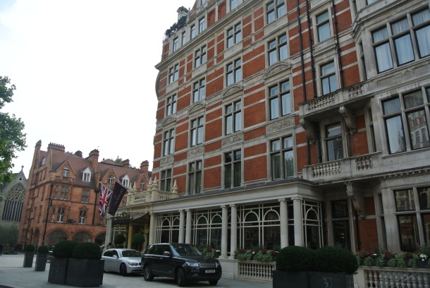Connaught Hotel located in Mayfair.