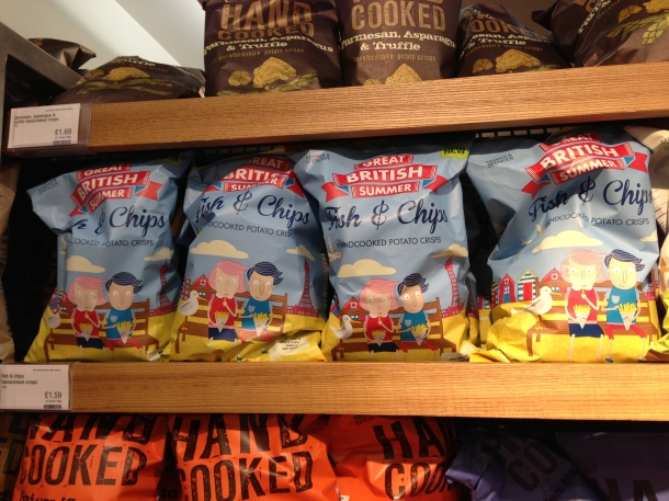 M&S Limited Edition Fish & Chips flavoured chips.