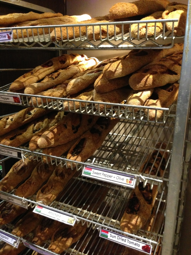 So many different types of baguettes.