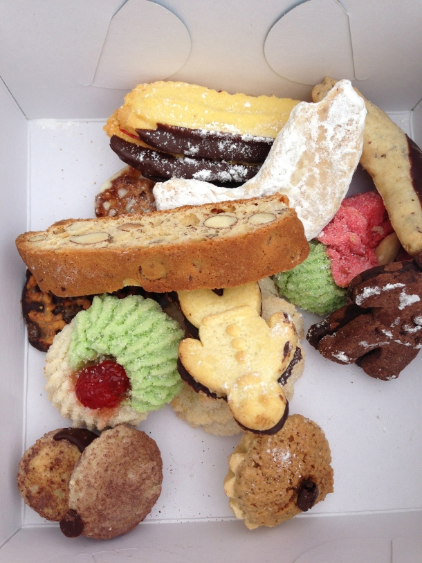 A variety of Italian cookies.