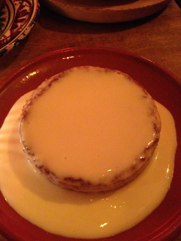 Basque cake and sherry cream.