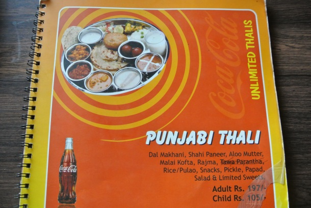 I ordered the Punjabi Thali.