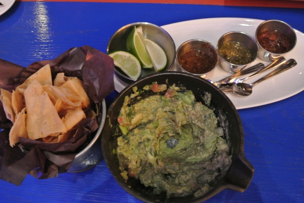 Freshly made guacamole.