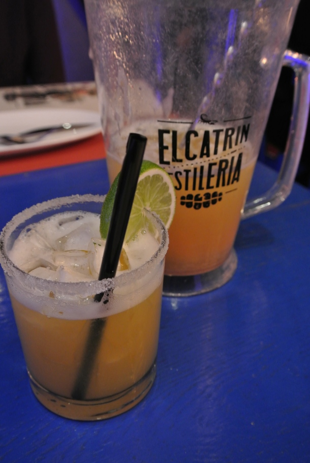 Pitcher of mango margarita - absolutely refreshing and delicious!