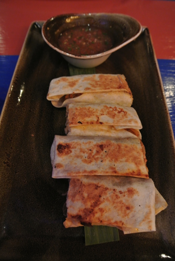 Gringa - flour quesadilla with grilled pork.