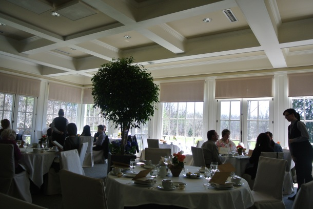 Inside the tea room at Langdon Hall.