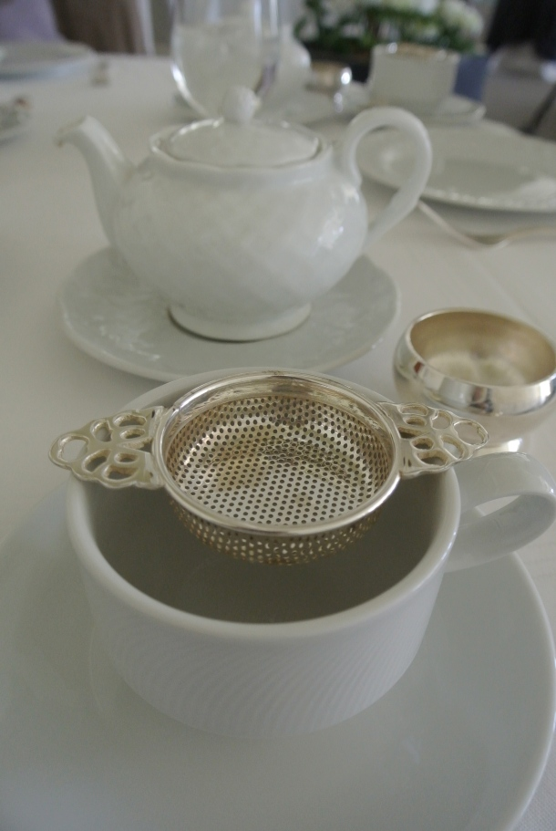 White tea set at Langdon.