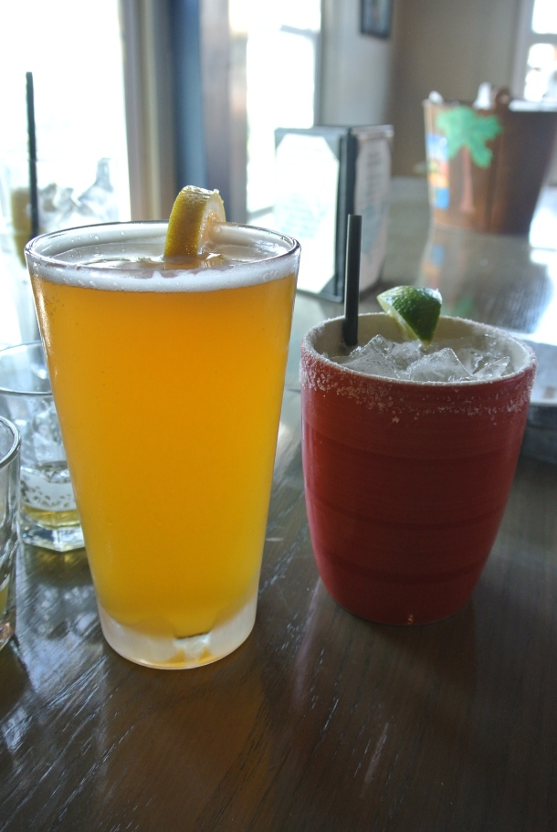 Local beer and cocktails.